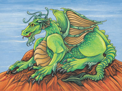Green Dragon - The Contentor by Tricia McLean